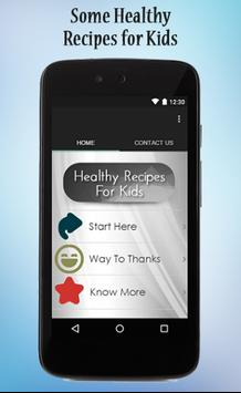 Healthy Recipes For Kids poster