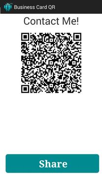Business Card QR Free poster