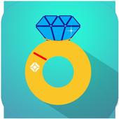 "Pop the Diamond Lock :""POP UP"" icon"