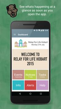 Relay For Life Hobart poster