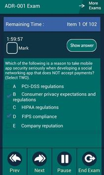 CB ADR-001 CompTIA Exam apk screenshot