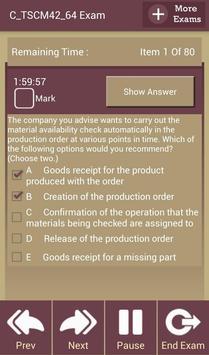 GC C_TSCM42_64 SAP Exam screenshot 2