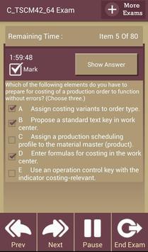 GC C_TSCM42_64 SAP Exam screenshot 8