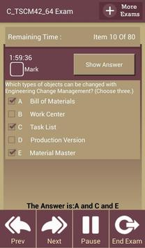 GC C_TSCM42_64 SAP Exam screenshot 9