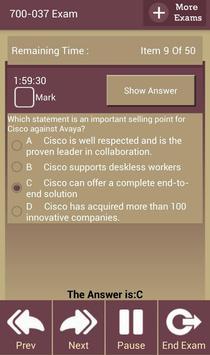 GC 700-037 Cisco Exam apk screenshot
