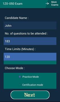 CB 1Z0-050 Oracle Exam apk screenshot