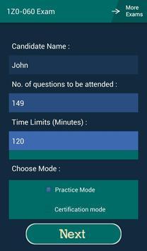 CB 1Z0-060 Oracle Exam apk screenshot
