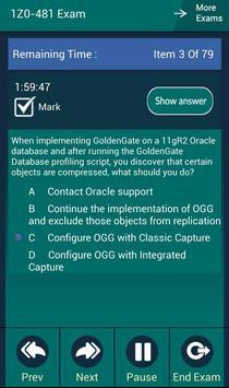 CB 1Z0-481 Oracle Exam apk screenshot