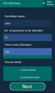 CB 1Z0-539 Oracle Exam screenshot 6