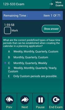 CB 1Z0-533 Oracle Exam apk screenshot