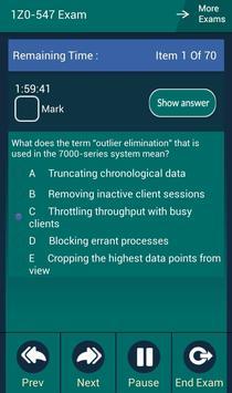 CB 1Z0-547 Oracle Exam apk screenshot