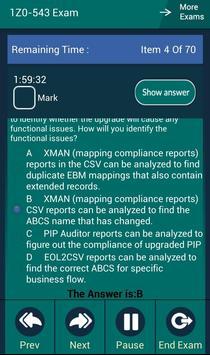 CB 1Z0-543 Oracle Exam apk screenshot