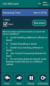 CB 1Z0-590 Oracle Exam apk screenshot