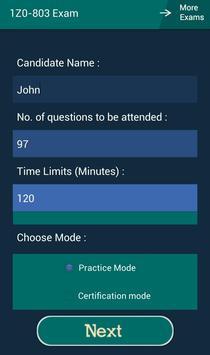 CB 1Z0-803 Oracle Exam apk screenshot
