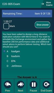 CB E20-805 EMC Exam apk screenshot
