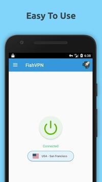 Free VPN Unlimited Proxy By FishVPN screenshot 2