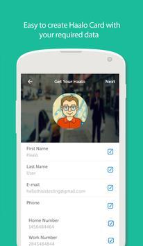 Haalo - Business Cards apk screenshot