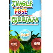 Jungle Rose Run Ninja Free icon
