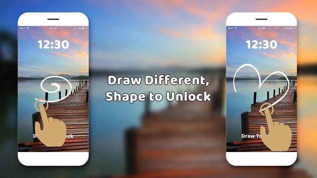Gesture lock screen and app lock poster