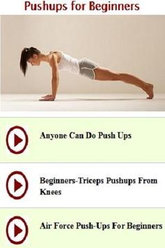 Pushups for Beginners poster