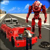 Big Muscular Truck Robot Mechanic Car Workshop icon