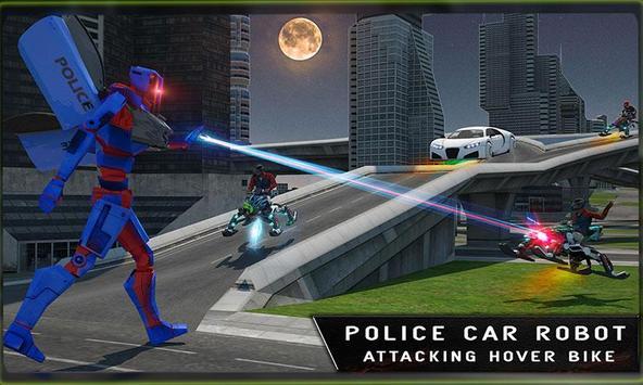 Cop Hover Car Robot Transform poster