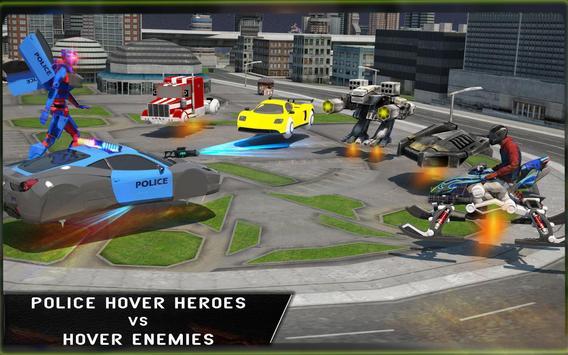 Cop Hover Car Robot Transform apk screenshot