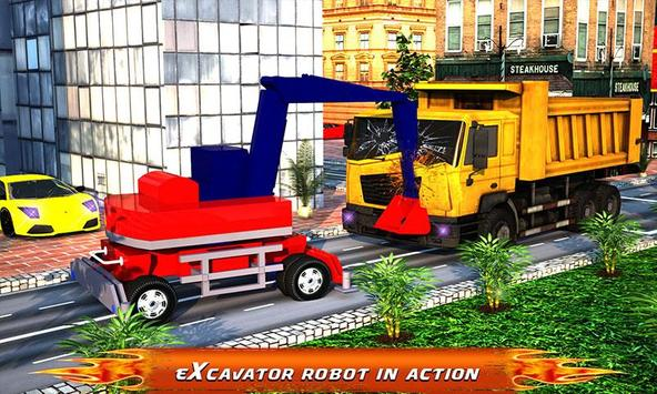 Excavator Transforming Robot apk screenshot