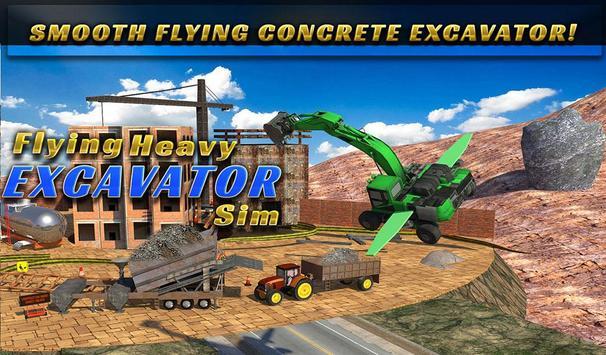 Flying Heavy Excavator Sim apk screenshot
