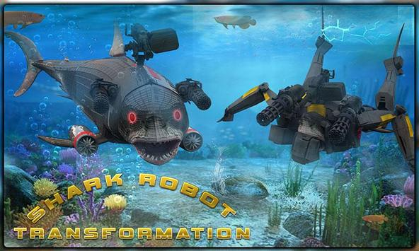 Starving Shark Robot Transform poster