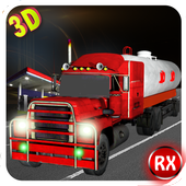 Oil Tanker Truck Transporter icon