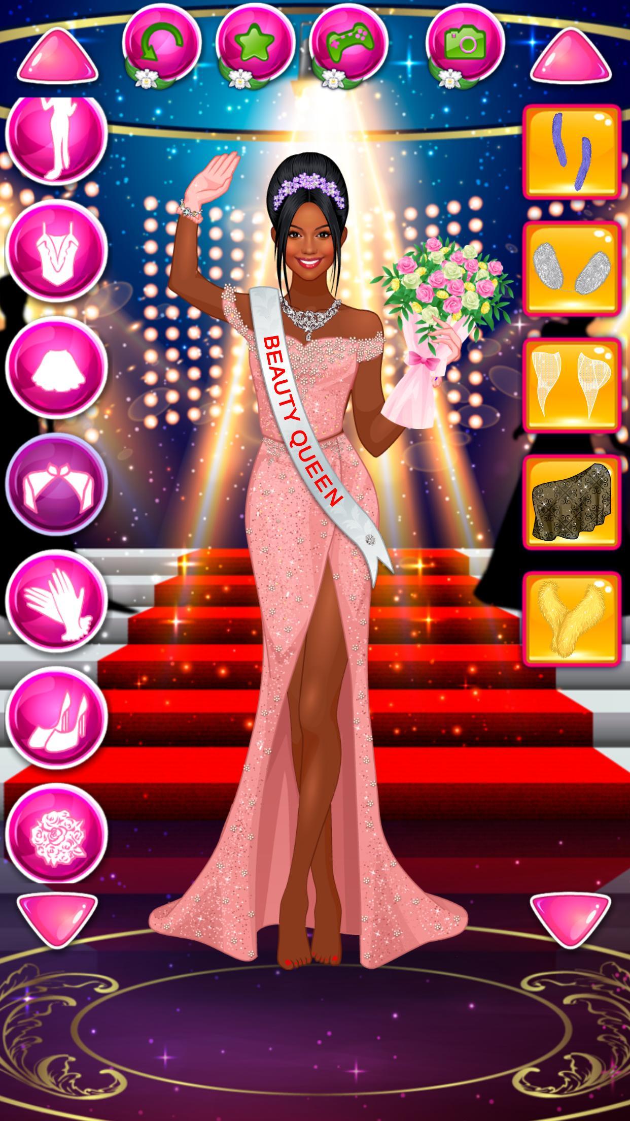 Juego De Vestir Reina De Belleza Moda Femenina For Android