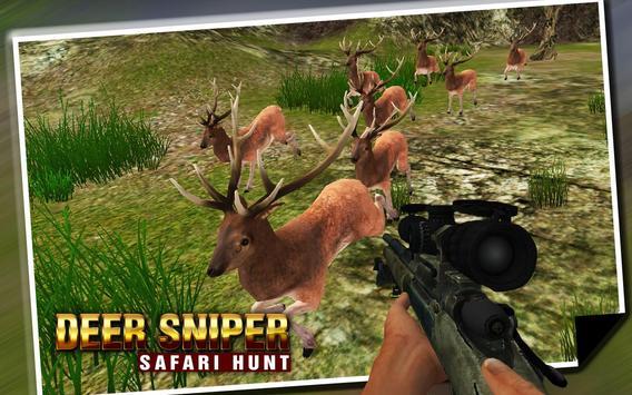 Deer Sniper Safari Hunt 2016 apk screenshot