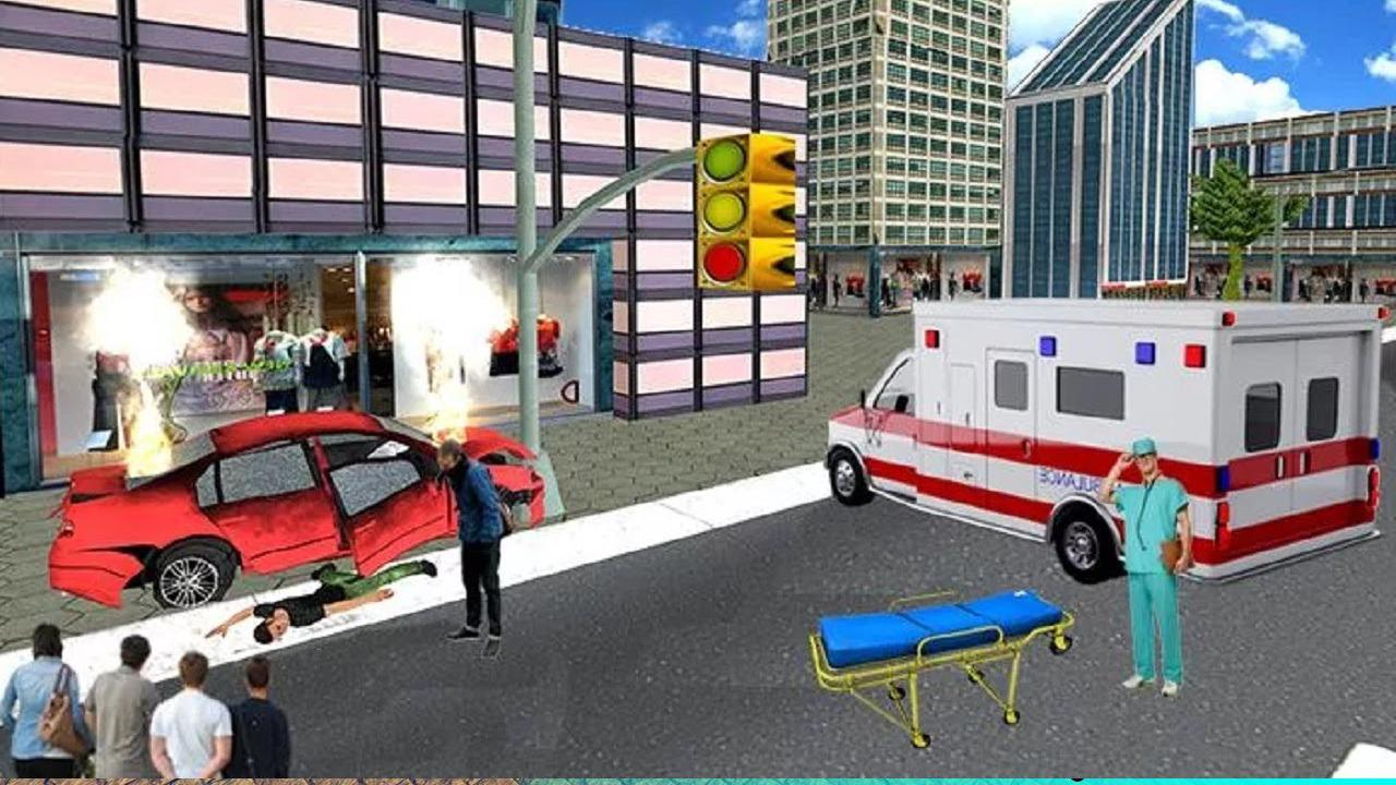 Ambulance Rescue Driver Simulator:Fast Driving 1