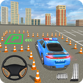 US Police Parking: Car Games icon