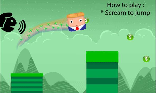 Trump Scream GO! apk screenshot