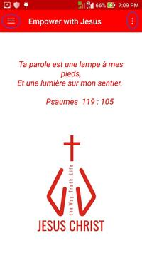 Empower with Jesus - in French language poster