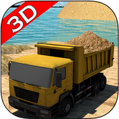 Transport Truck: River Sand icon