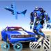 US Police Plane Robot Car Bike - Transporter Games APK
