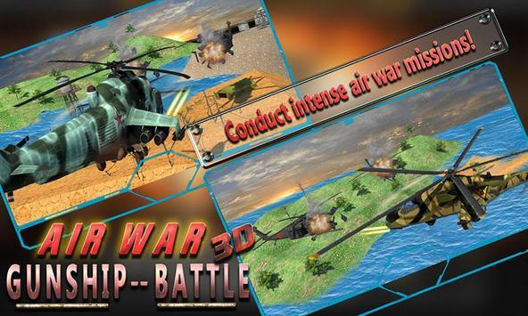 Air War Gunship Battle 3D poster