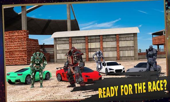 Car Race: Robot Transform poster