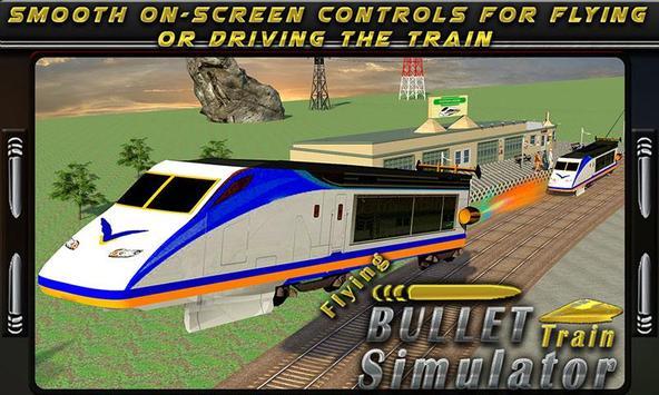 Flying Bullet Train Simulator poster