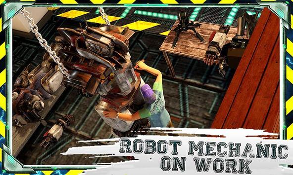 Futuristic Robot Mechanic poster
