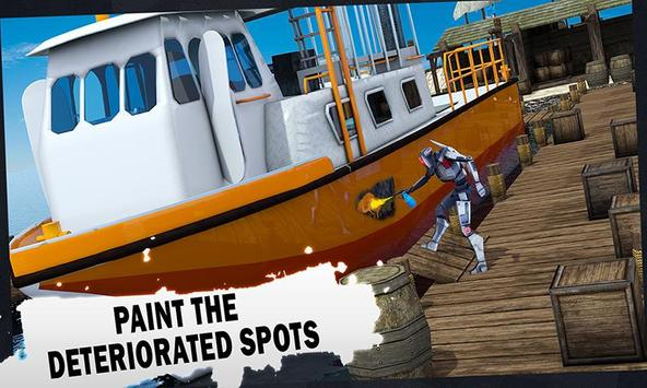 Futuristic Robot Boat Mechanic poster
