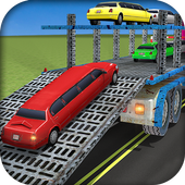 Limousine Car Transport Truck 3D Transporter Games icon