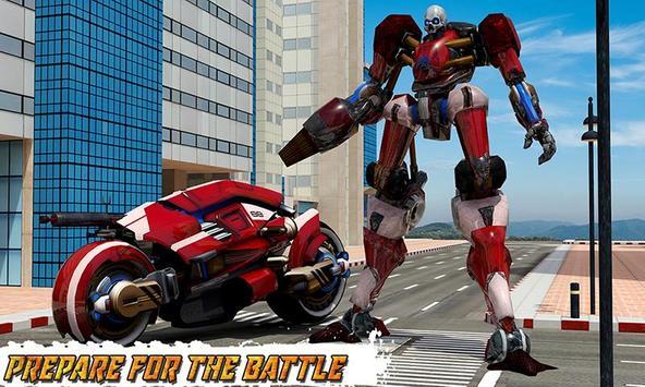 Moto Robot Transformation: Transform Robot Games poster