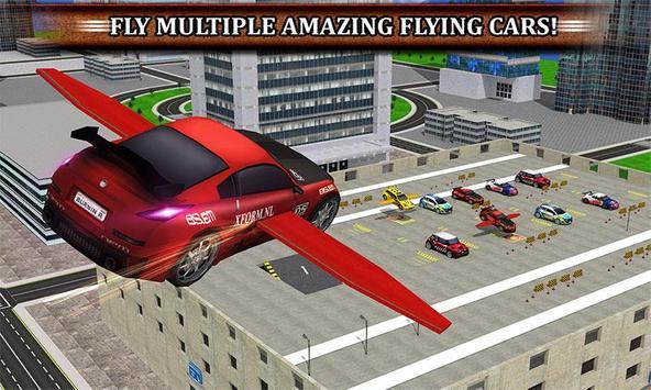 Multistorey Flying Car Parking poster