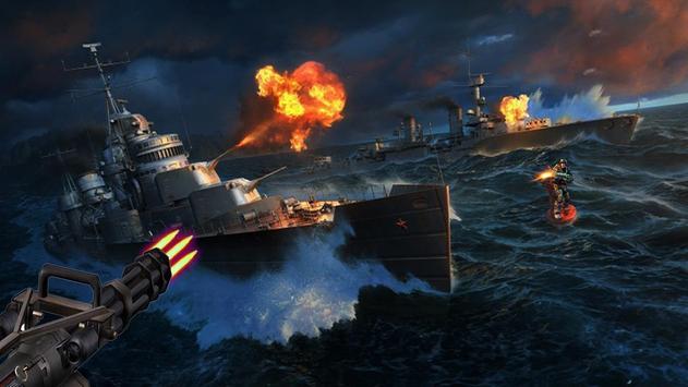 Navy combat battleship war poster