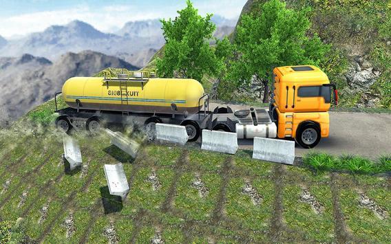 Oil Tanker Truck Fuel Hill Sim poster