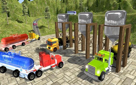 Oil Tanker Truck Fuel Hill Sim apk screenshot
